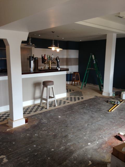 New function room almost ready for your private parties.